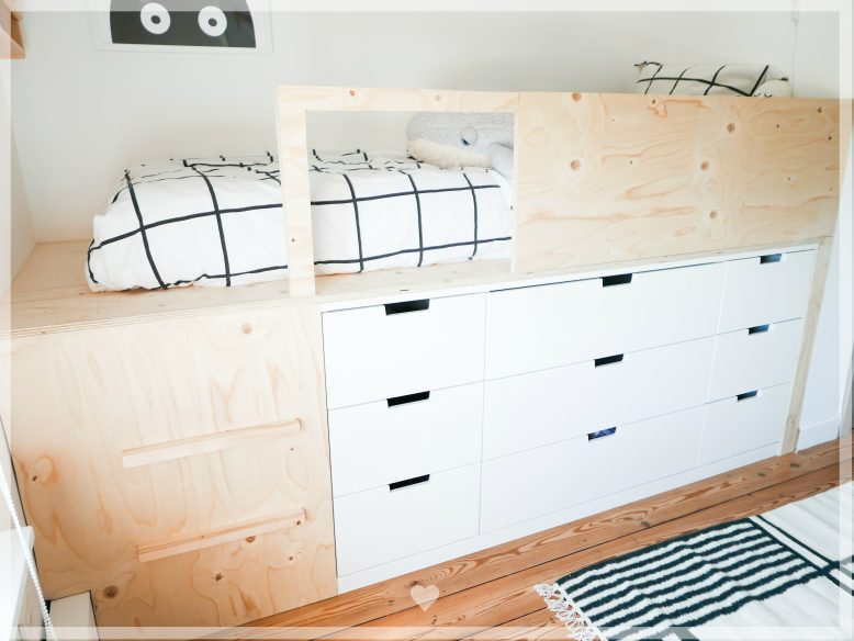 Slaapkamer make over en DIY halfhoogslaper – Ikea Nordli hack